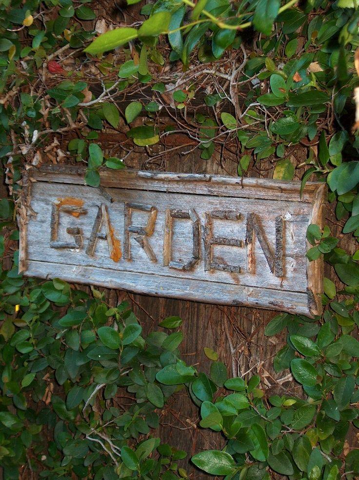 Garden sign Country Cottage Pinterest Jardines, Rústico y Cabañas