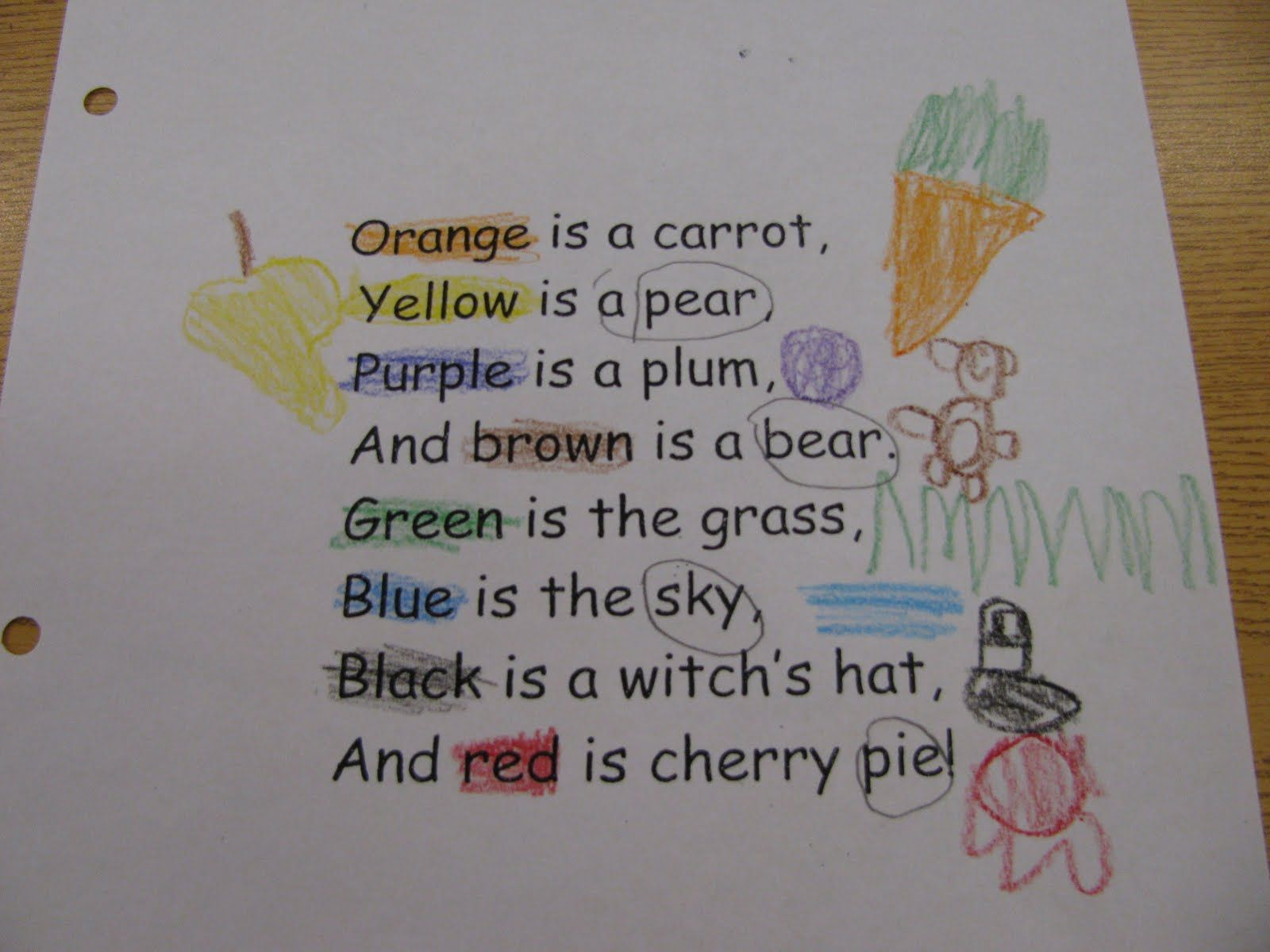 First Grade Family Poems