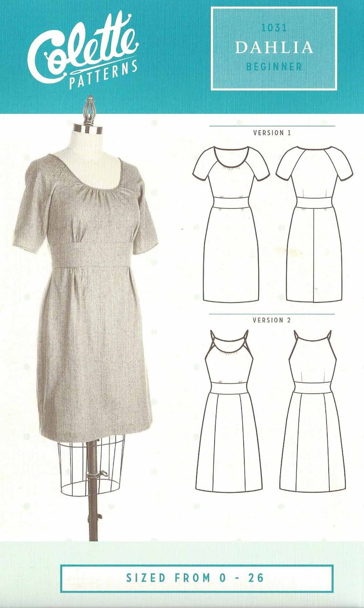 Dahlia | Sewing - Women's 5 | Colette patterns, Easy sewing patterns