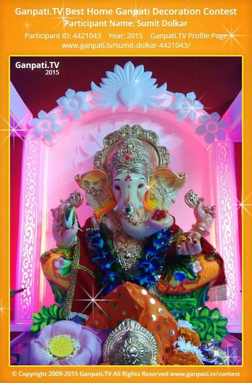 Sumit Dolkar Home Ganpati Picture 2015. View More Pictures And Videos Of Ganpati  Decoration At