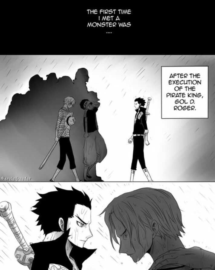 i think this has happend after gold d roger s death poor shanks