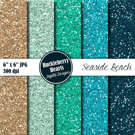 seaside beach digital glitter paper is great for scrapbooking card