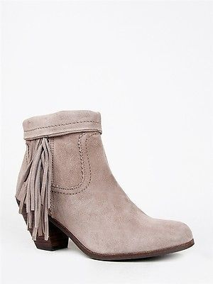 b0eb59c9e91cd3 Sam Edelman NEW LOUIE Women Fringe Western Mid Heel Ankle Boot Suede Bootie  Tan on shopstyle.com
