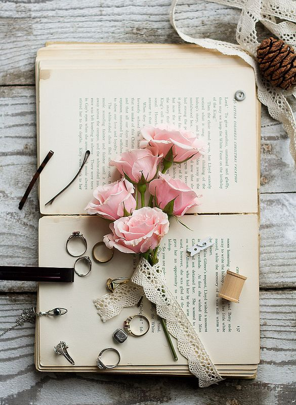 Roses On A Book Book Flowers Book Wallpaper Iphone Wallpaper