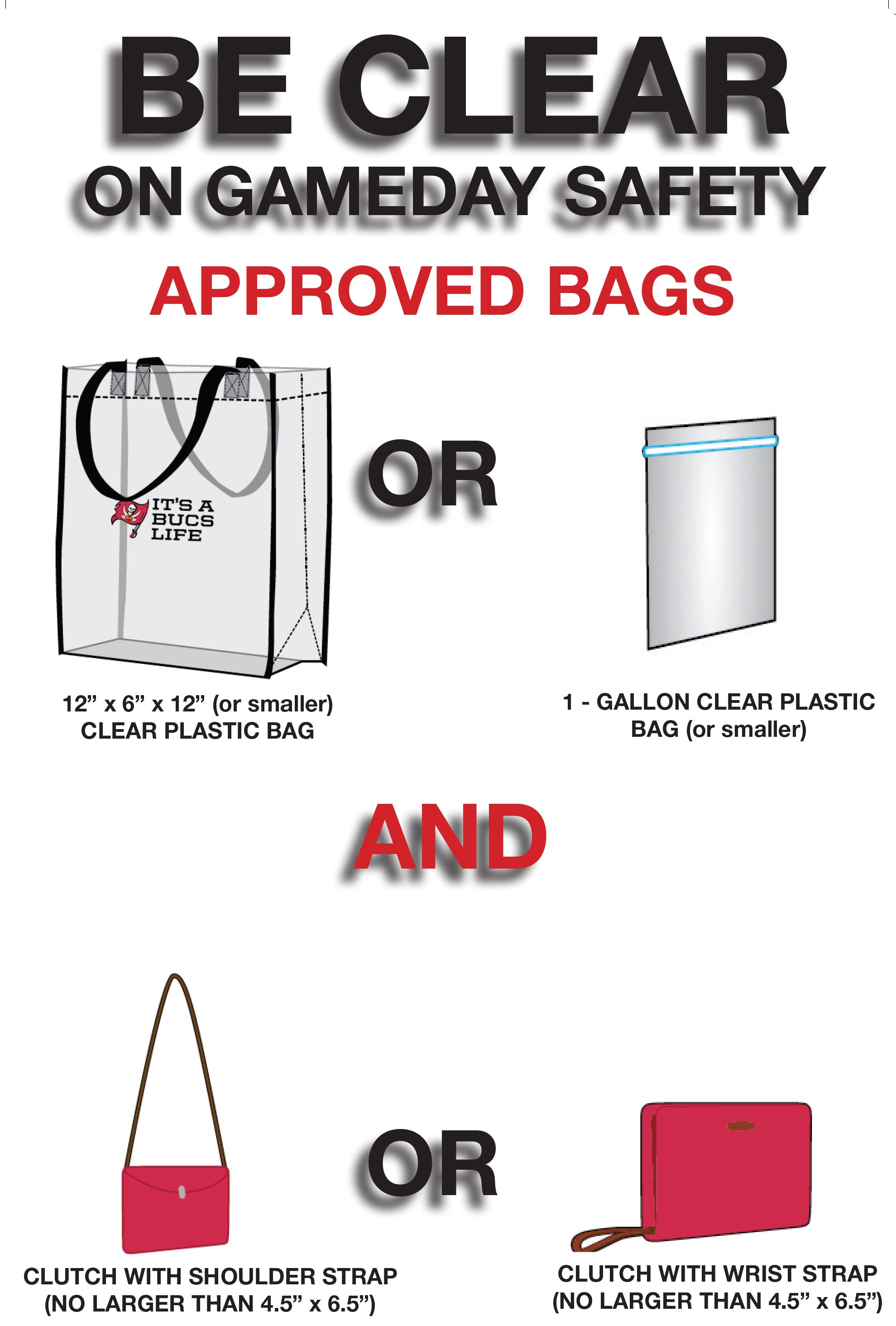 New Clear Bag Policy Bags Plastic Team Mom