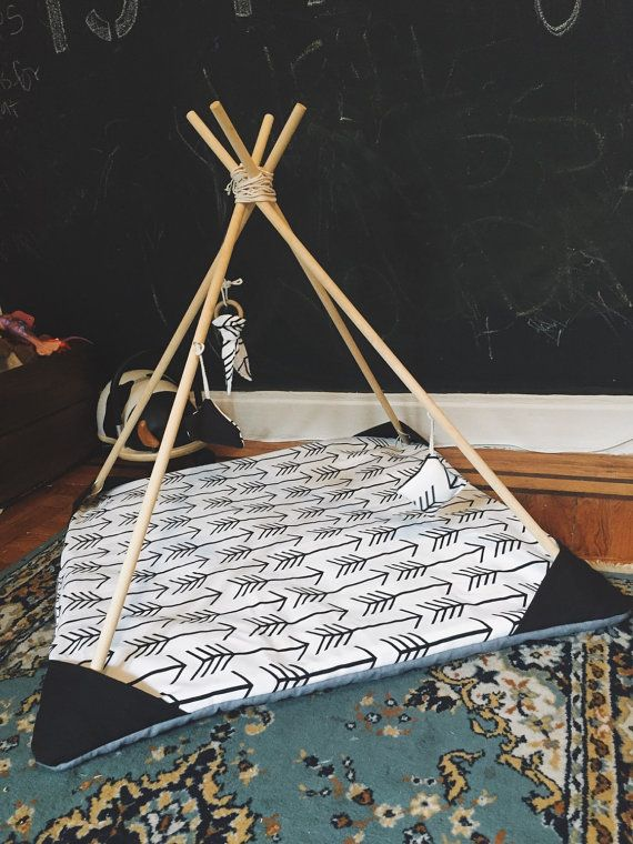Teepee Baby Play Mat By Storylinethreads On Etsy Sew