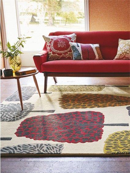 Tappeto di lana Cedar Multicolor Home decor, Chaise