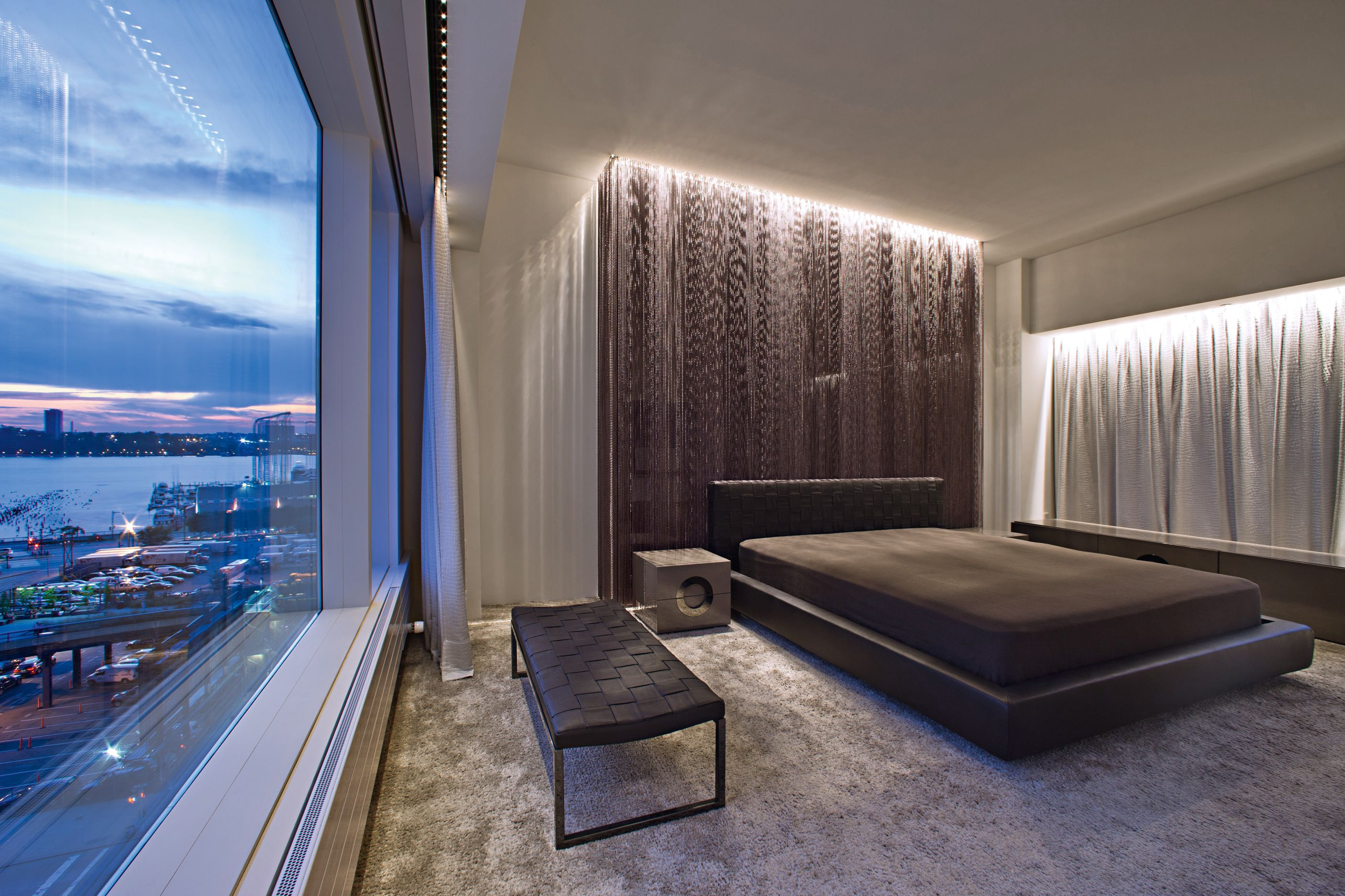 Xal Supplied Lighting For This Amazing Penthouse Suite In Nyc  # Foxy Muebles Encastrables