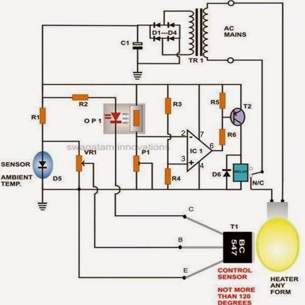Mini Circuit Projects Timer Circuits Emergency Light Hobby Circuits The Electronic Thermostat