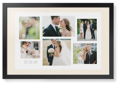 Gallery Collage of Six Framed Print, Black, Contemporary, None, Cream, Single piece, 20 x 30 inches