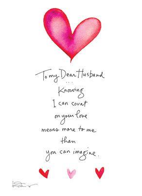 Dear Husband Valentine Valentines Card For Husband Husband