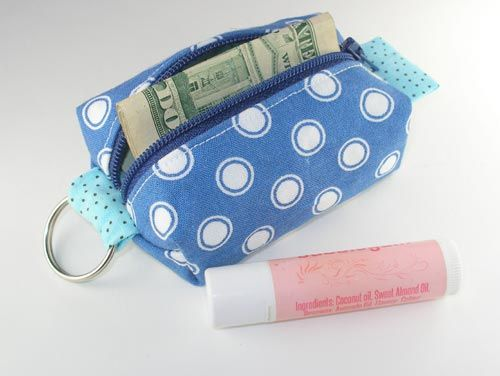 Teeny Tiny Zipper Pouch Coin Purse Or Add To Your Key Ring Zipper Pouch Tutorial Pouch Tutorial Pouch Sewing