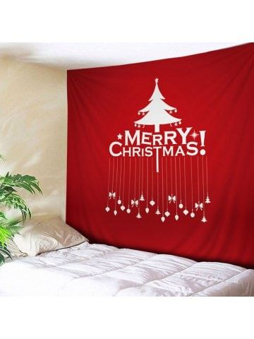 merry christmas tree print tapestry wall hanging art on walls coveralls website id=45009