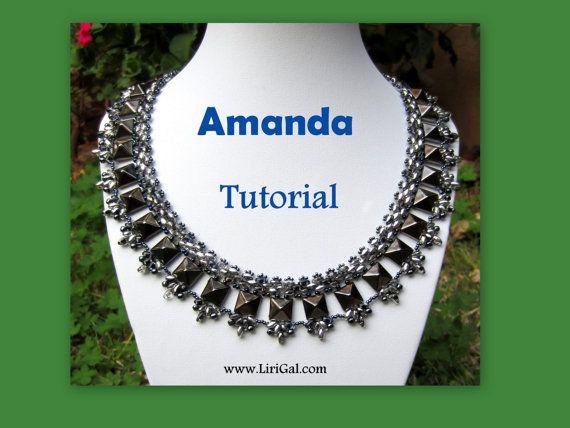 925ee31c8100b Amanda SuperDuo and Pyramid spike beads Beadwork Necklace PDF ...