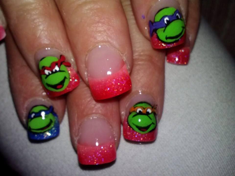 Hand painted teenage mutant ninja turtles nails   MyStyle Nails ...