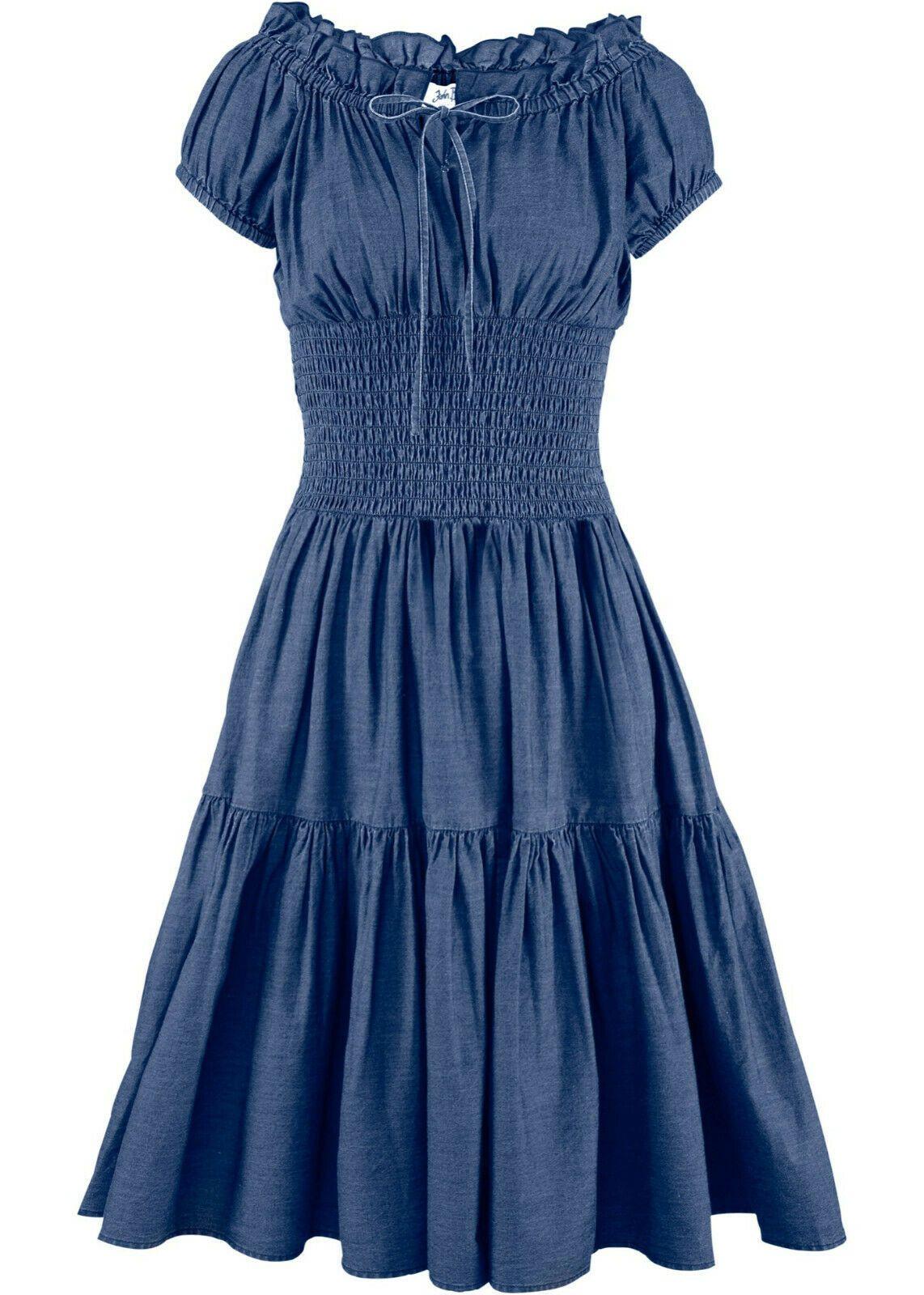 details zu damen jeanskleid blau 46 48 50 sommer kleid l xl