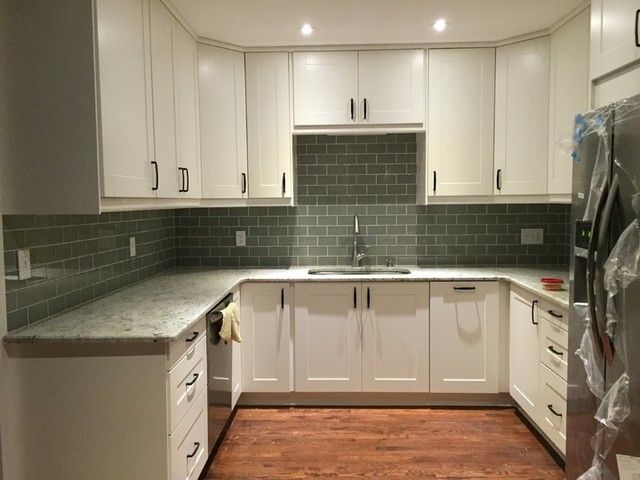 Incredible Ikea Grimslov Off White Cabinets Colonial White Granite Download Free Architecture Designs Sospemadebymaigaardcom