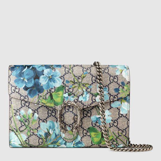 10133faddac9 Gucci Dionysus Blooms print mini chain bag   $ 1,290 Style 401231 KU2AN  8487 blue blooms