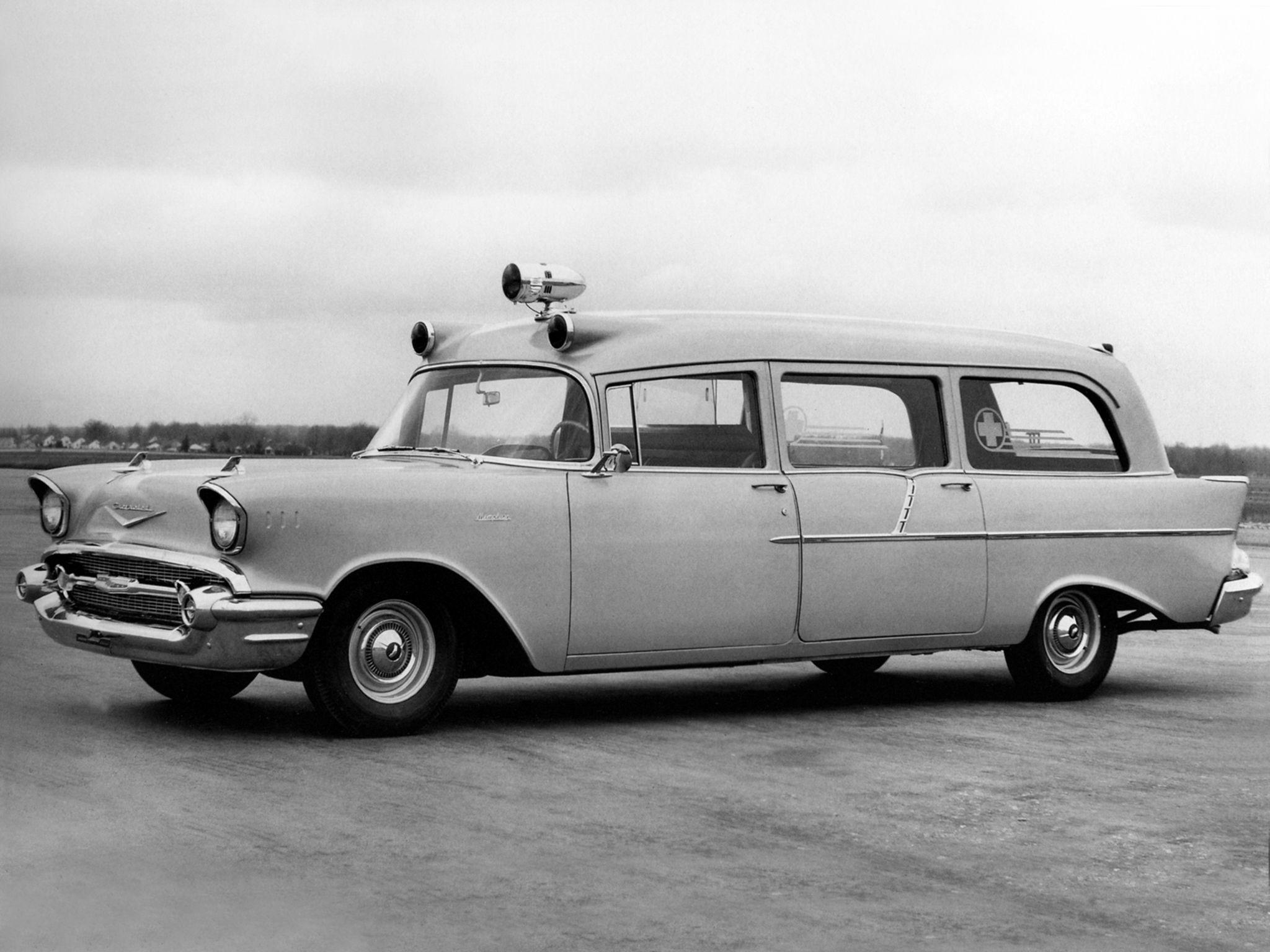1957 Chevy Ambulance Cadillac Classic Cars Pinterest Panel Truck