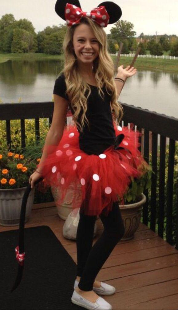 Minnie Mouse Tutu Costume: Red Minnie Mouse Adult Girls Costume Tutu Ears Tail
