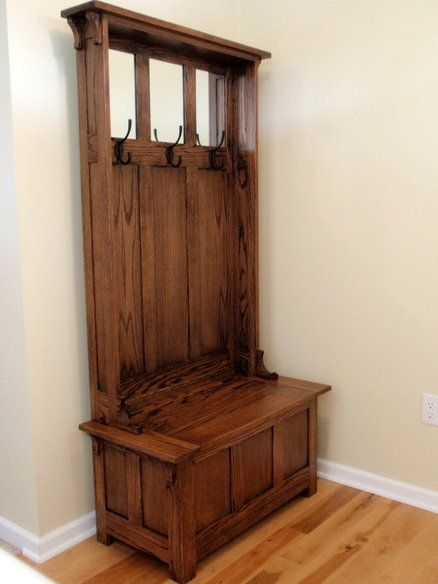 High Back Hall Bench Hall Tree Home Woodworking Bench