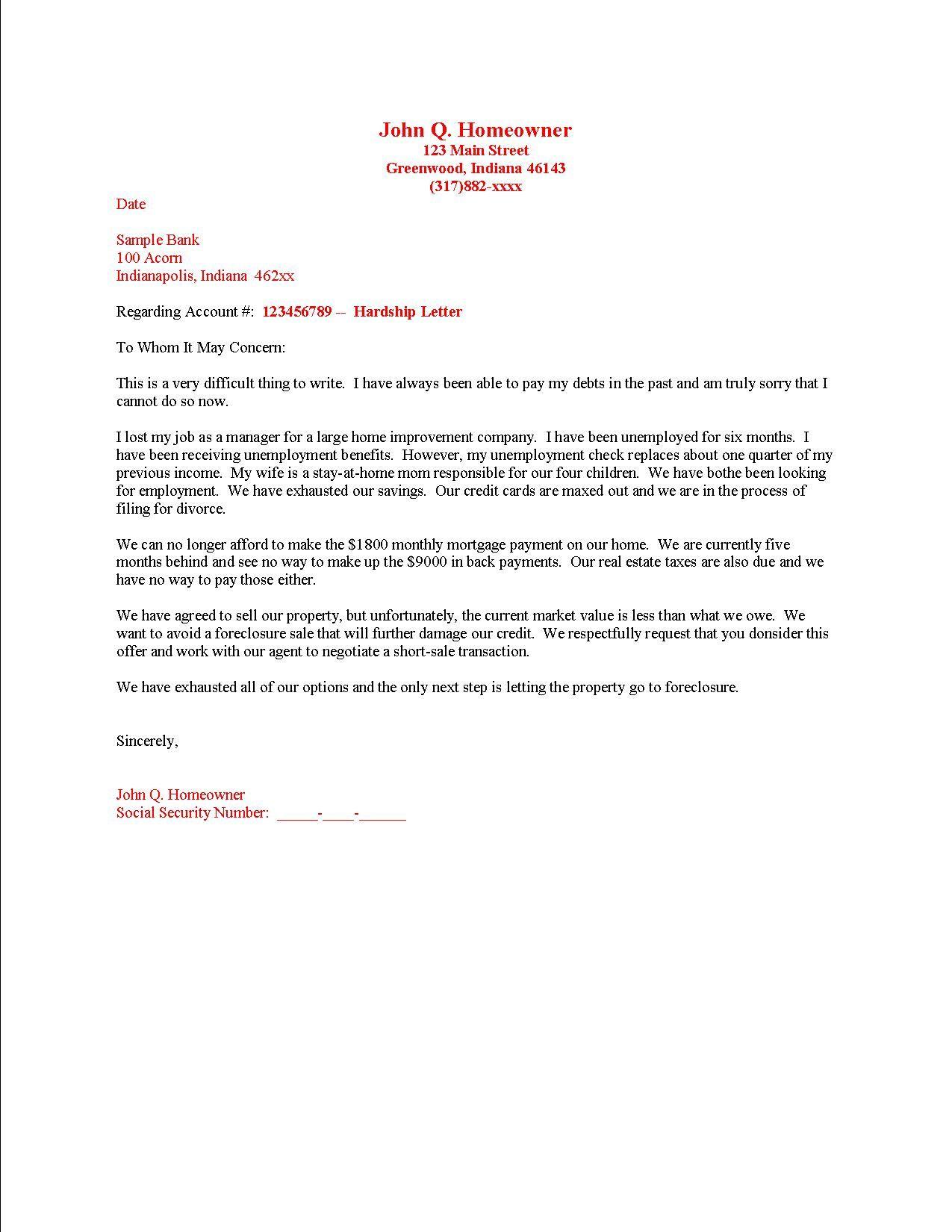 Economic Hardship Letter For International Students Sample from i.pinimg.com