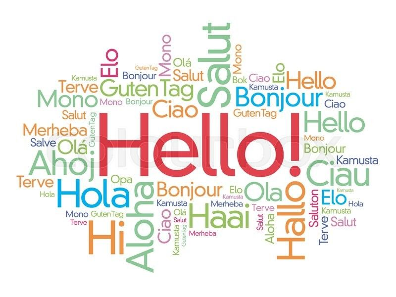 Greetings in different languages drawing pinterest language greetings in different languages hello word hello hello receptionist desk spanish language learning m4hsunfo