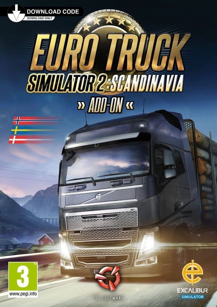 PC Euro Truck Simulator 2 - Scandinavia DLC Steam Key ITA - EU Multi