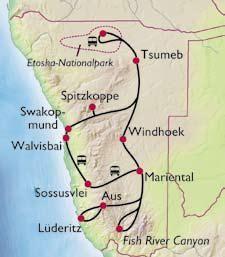 Namibia Karte Afrika Reisen Reisen Und Afrika