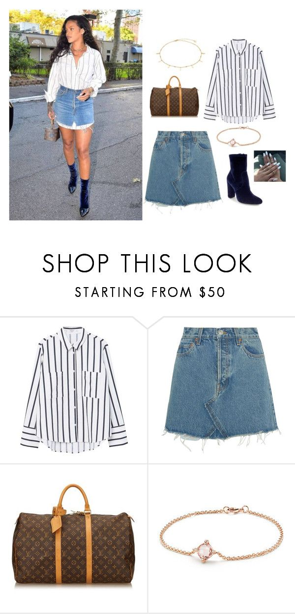 """Cha-nge"" by bukkyonibokun on Polyvore featuring MANGO, RE/DONE, Louis Vuitton and David Yurman"