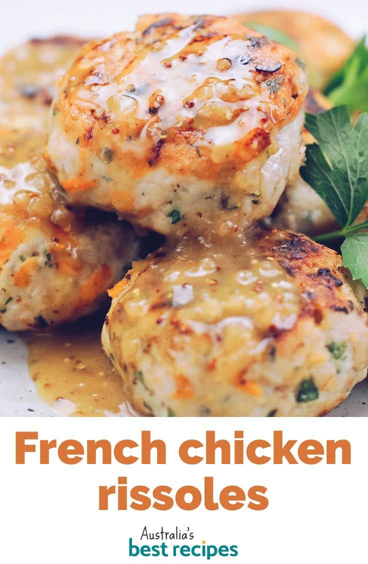 French chicken rissoles