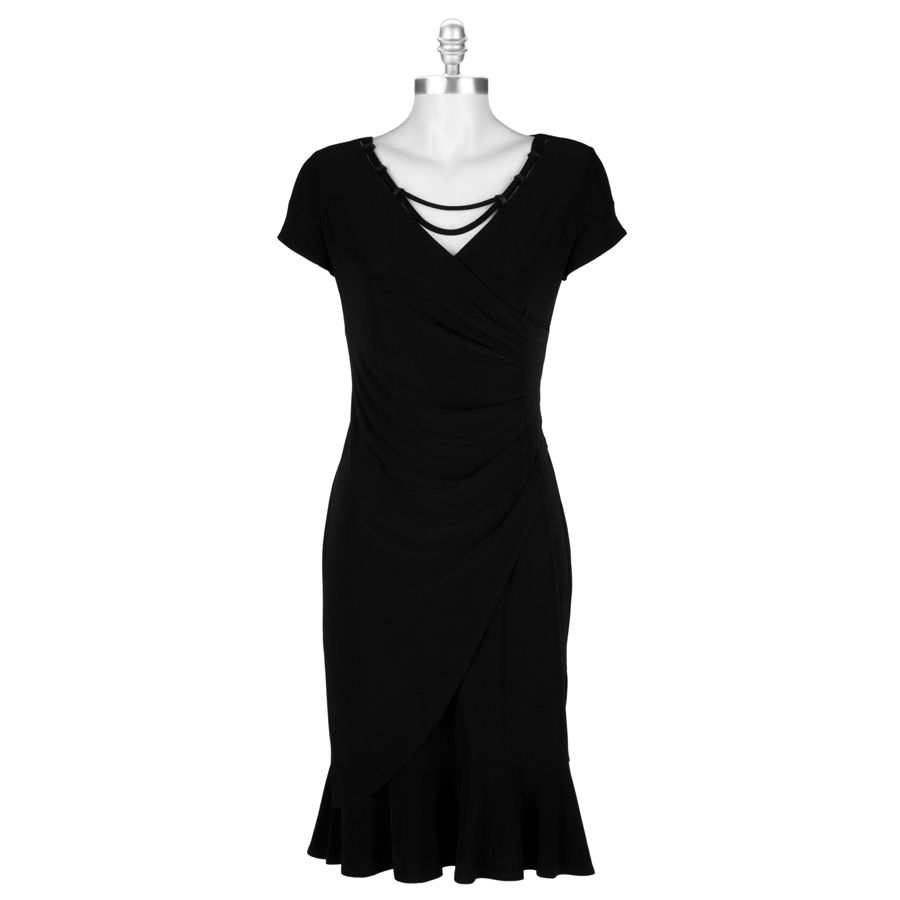 Picadilly fashions cap sleeve faux wrap dress vonmaur all dressed