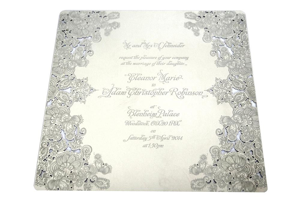 Intricate Creations  Stainless Steel Invitation  Metal