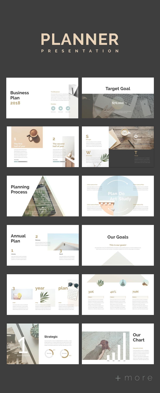 simple planner presentation template presentation powerpoint