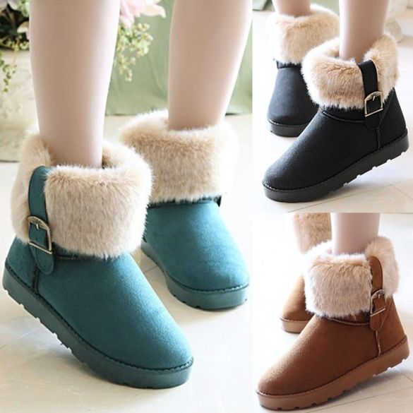 Women Snow Boots Ankle Boots Warm Shoes