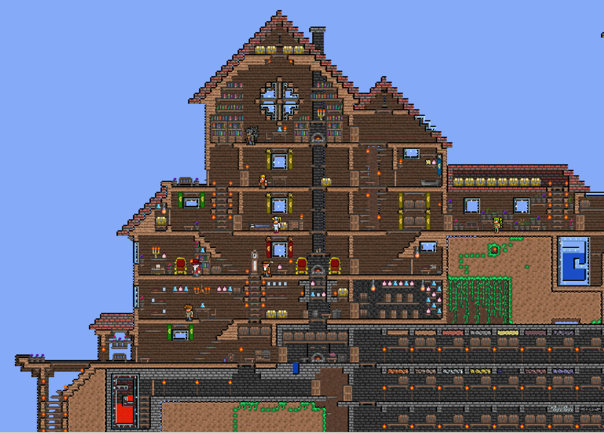 Terraria on pinterest terrarium castles and winter cabin Good house map