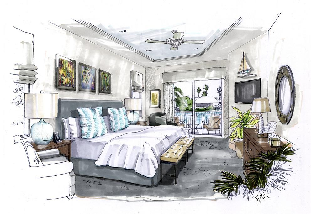 Providing hand drawn architectural renderings to designers for Marketing for architects and designers