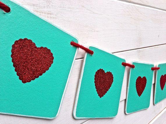 Corazón Banner Banner de San Valentín San por RedBirdBanners, $21.00