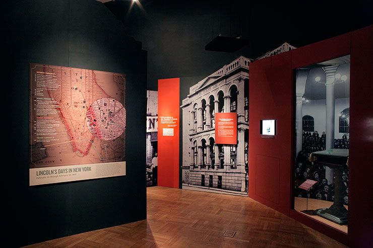 The Graphics Office Nyhs Lincoln Museum Exhibition Design Exhibition Design Design Museum