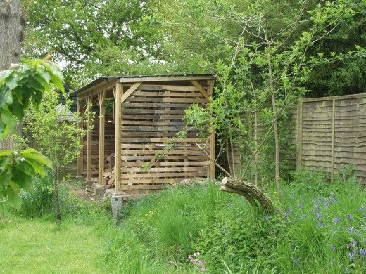 This log store will store 830 cubic feet of stacked logs.  To buy new it would be in the region of £3000.  I built this for less than £200