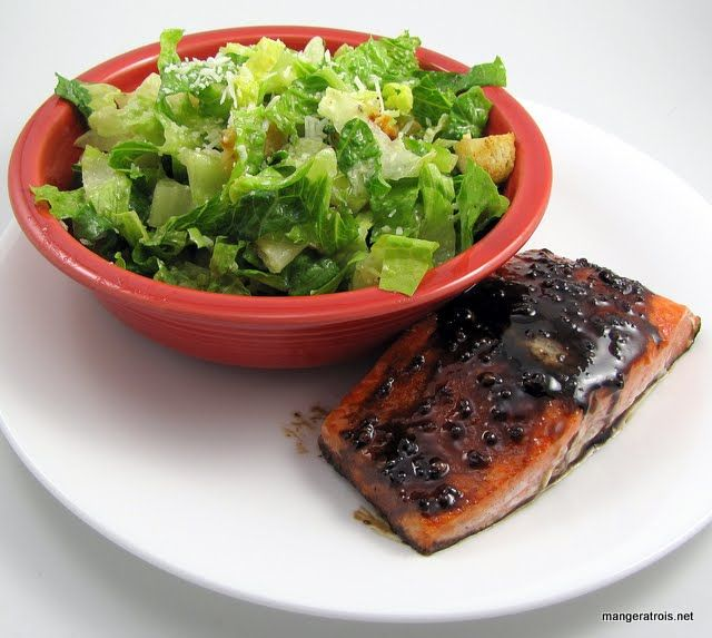 Pomegranate-Balsamic Glazed Salmon