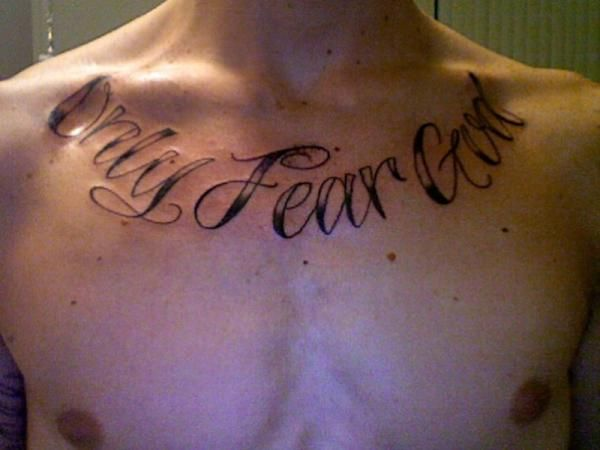 Fear God Tattoo Designs No Fear Tattoo Quotes. Quotesgram