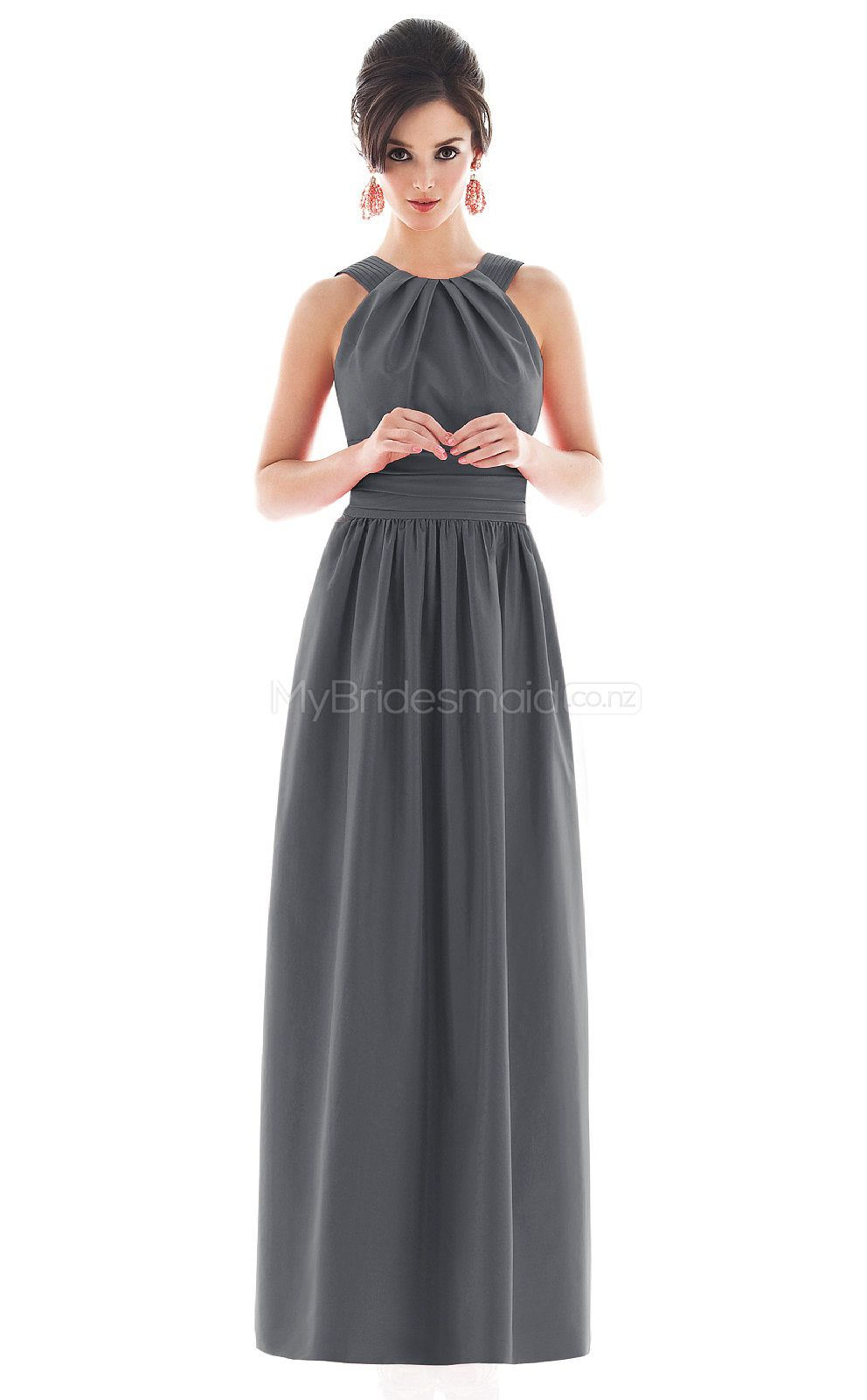 Gray taffeta a line off the shoulder floor length vintage gray taffeta a line off the shoulder floor length vintage bridesmaid dresses nzbd06675 ombrellifo Gallery