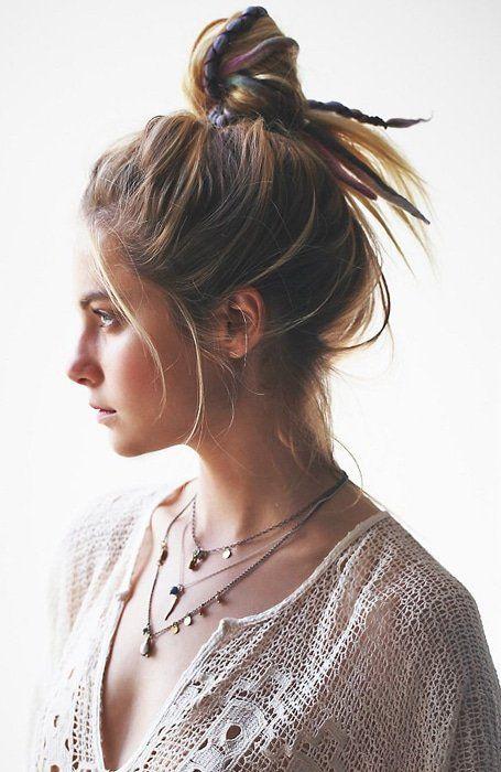 15 Best Messy Bun Hairstyles for Women | Messy bun hairstyles, Messy bun for short hair, Messy ...