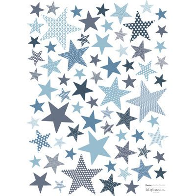 lot stickers etoiles stone bleu chambre b b. Black Bedroom Furniture Sets. Home Design Ideas