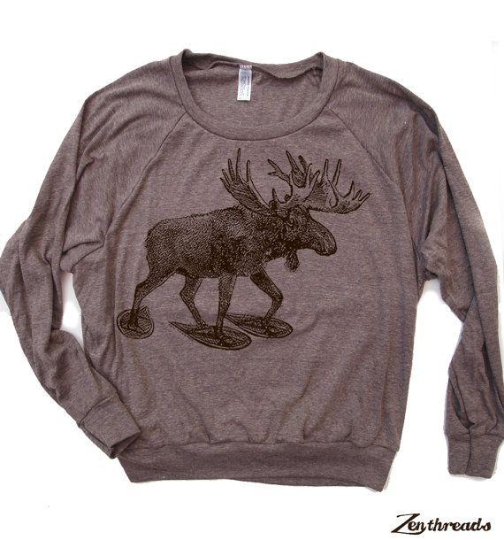 Don't moose with me funny moose graphic print Unisex tri blend raglan sleeve Sweatshirt rqU17J3Gp