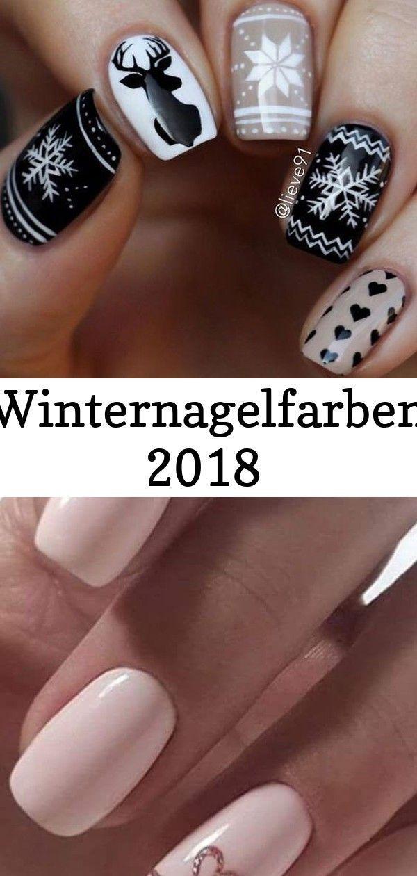 Winter nail colors 2018 #colors #winter