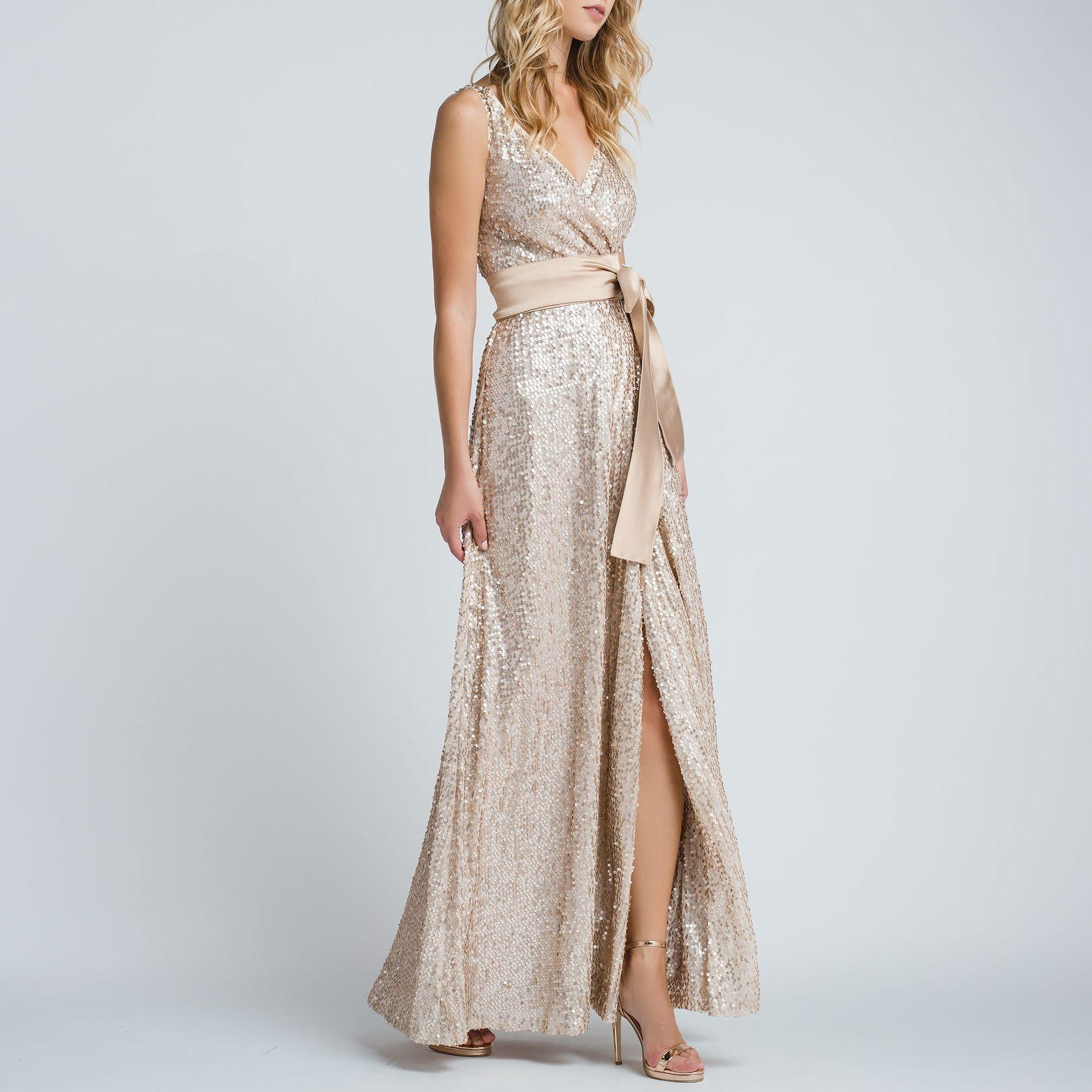 Μακρύ φόρεμα όλο παγιέτα - Access Fashion  1a1a88389f0