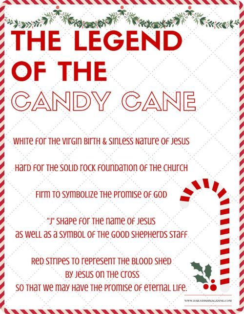 the legend of the candy cane free printable and a giveaway daily