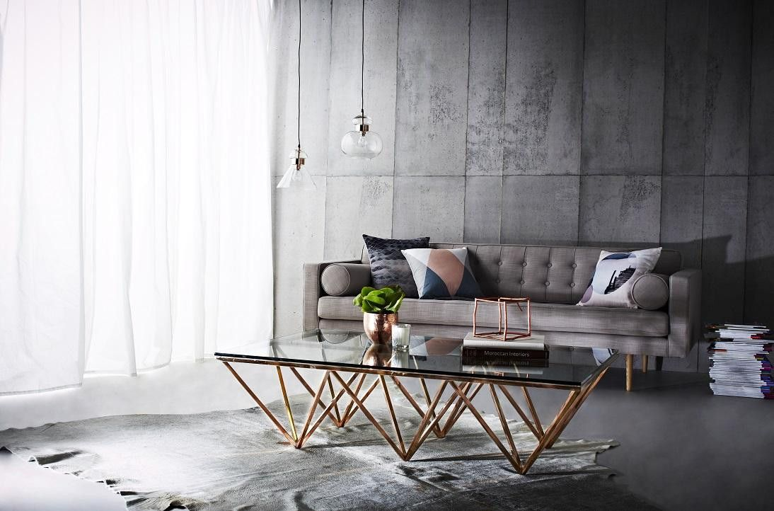 Globe West | Elle Rectangular Eiffel Coffee Table | Furniture